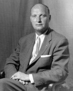 John Moran Bailey, Chairman of the Democratic National Committee, circa 1961. Photograph by George Maniatas, Continental Photo Service, New York, from the Democratic National Committee Files, John F. Kennedy Presidential Library and Museum, Boston (DNC-73)
