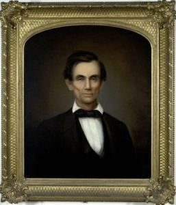Portrait of Abraham Lincoln by George F. Wright
